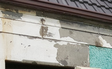 Flaking Coating due to water damage